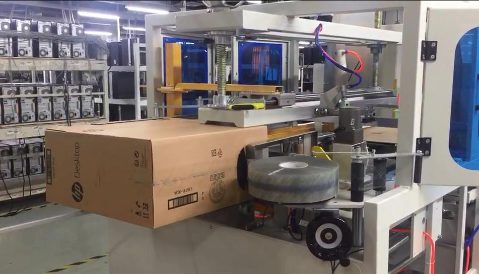 富士康代工惠普工厂使用卧式开箱机